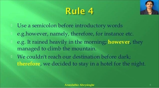 semicolon grammar how to use
