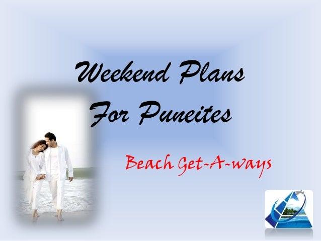 Weekend Plans For Puneites Beach Get-A-ways