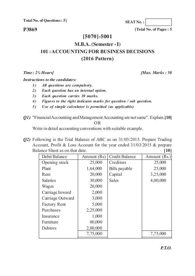 Pune university mba sem 1 question papers 2016