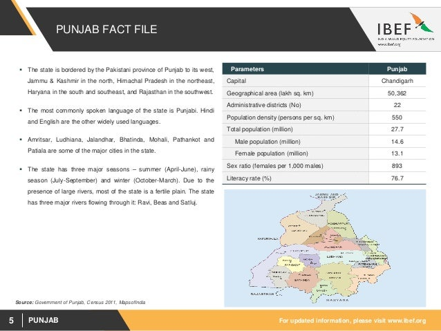 Punjab State Report - August 2018