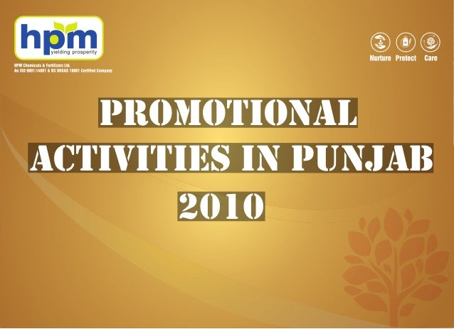 PROMOTIONAL ACTIVITIES IN PUNJAB 2010