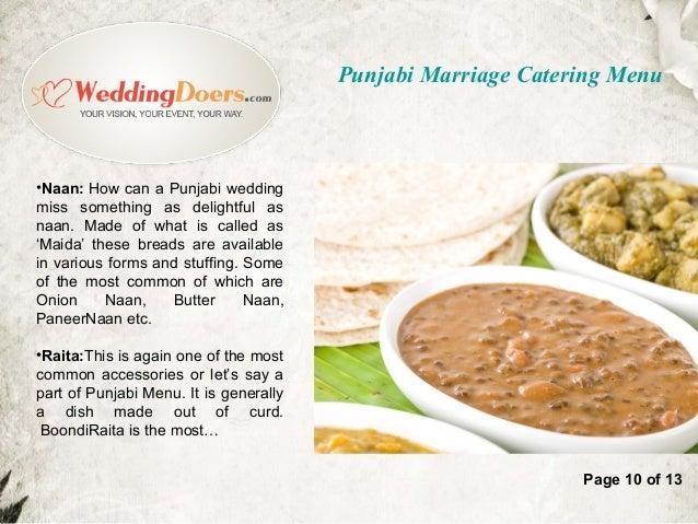 Page 9 Of 13 Punjabi Marriage Catering Menu 10