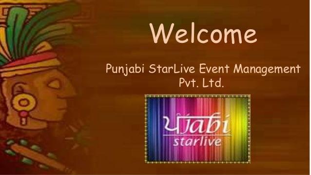 Welcome Punjabi StarLive Event Management Pvt. Ltd.