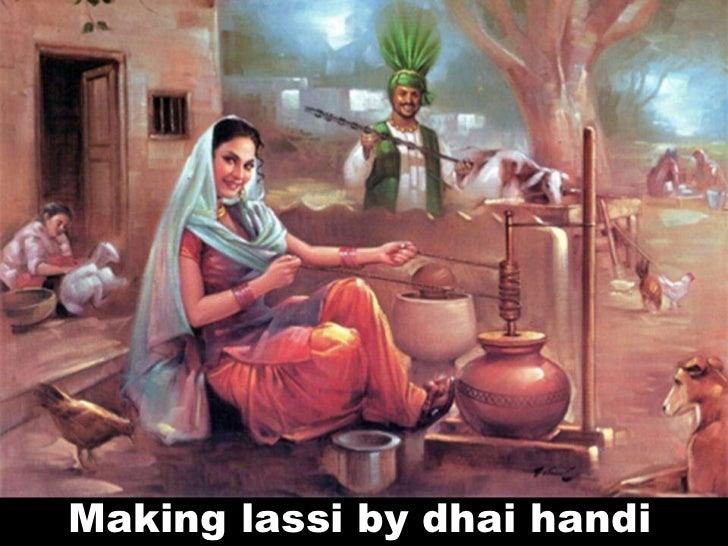 Making lassi by dhai handi