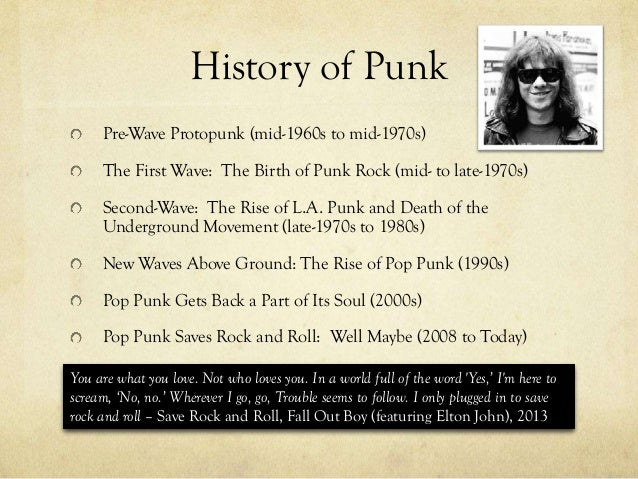 """essays history of punk rock How was punk rock a reaction both to the commercialization of rock and roll  and  about how they saw themselves fitting in to the history of rock and roll   as a starting point for an essay or journal entry on the origins of punk rock: """"it's a ."""