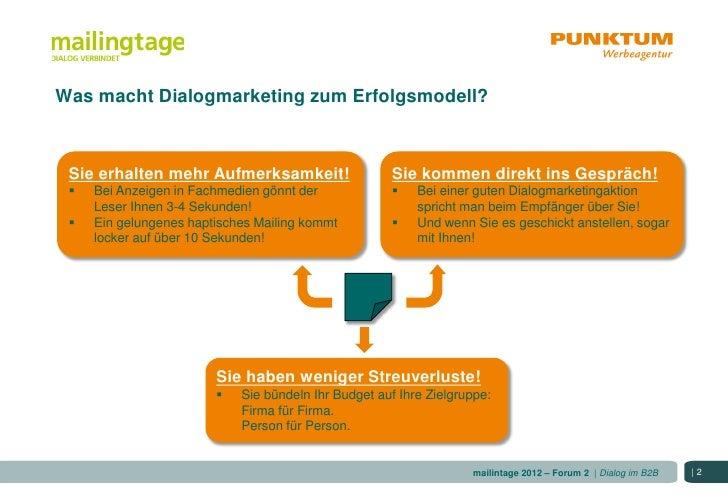 So wird Dialogmarketing im B2B zum Erfolg Slide 2