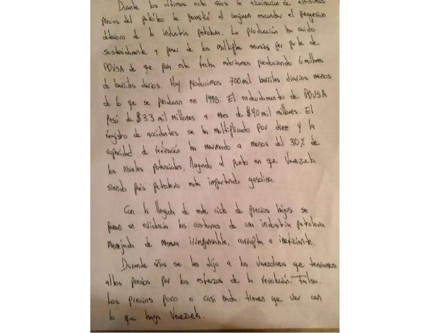 Propuesta petrolera de Leopoldo López de su puño y letra Slide 2