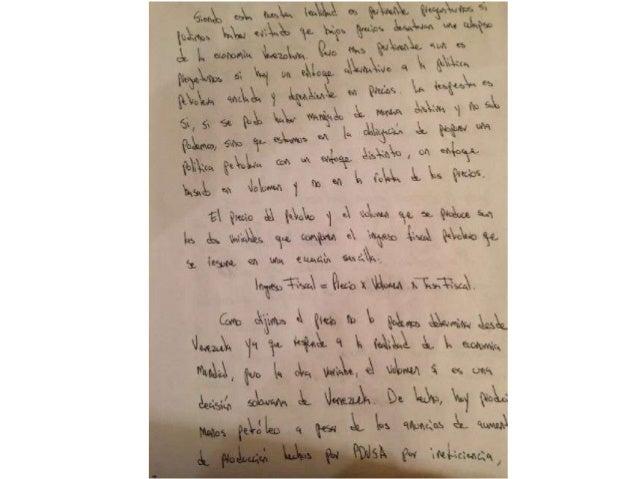 Propuesta petrolera de Leopoldo López de su puño y letra Slide 3