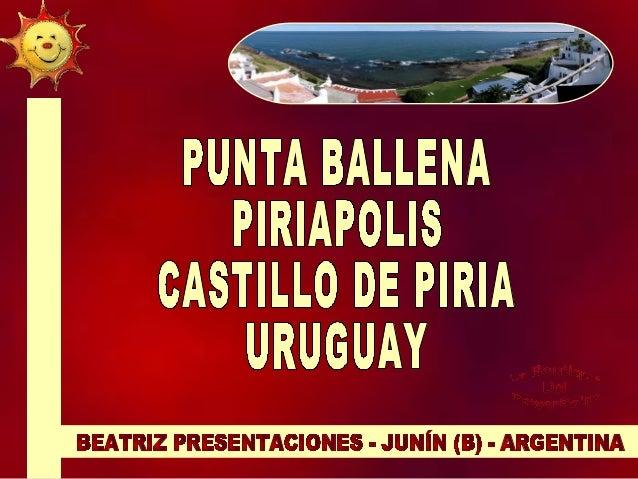 Punta Ballena es un extremo rocoso que procede de la Sierra de la Ballena internándose unos cientos de metros en el Río de...