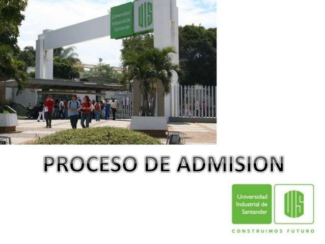 PROCESO DE ADMISION<br />