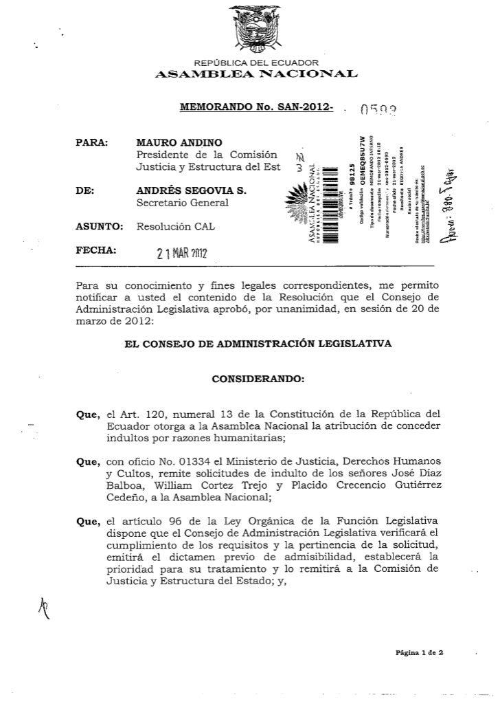 Comisión de Justicia Punto 2 solicitudes de indultos