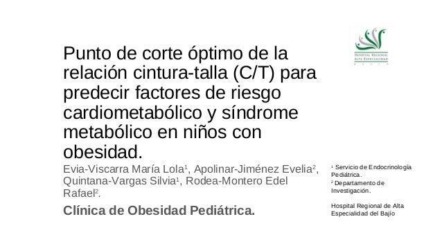 Punto de corte óptimo de la  relación cintura-talla (C/T) para  predecir factores de riesgo  cardiometabólico y síndrome  ...