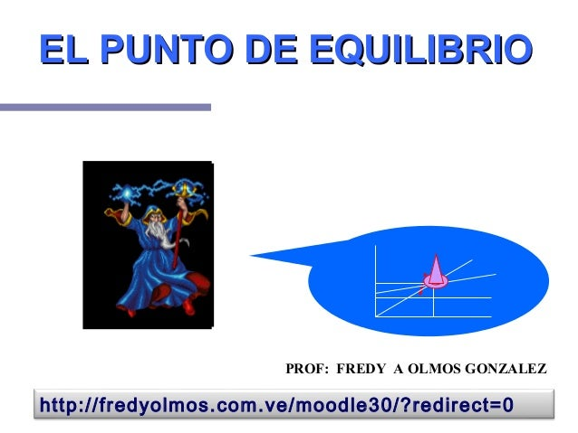 EL PUNTO DE EQUILIBRIOEL PUNTO DE EQUILIBRIO ¡! PROF: FREDY A OLMOS GONZALEZ http://fredyolmos.com.ve/moodle30/?redirect=0