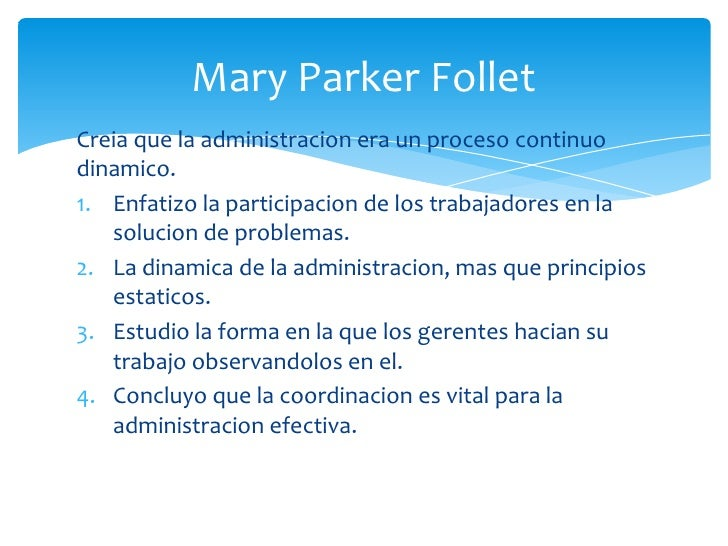mary parker follet ve chester barnard Mary parker follett: a human relations approach to work mary follett's contribution to the development of management theory can be seen as a contrast to the scientific management theories of the early 1900's.