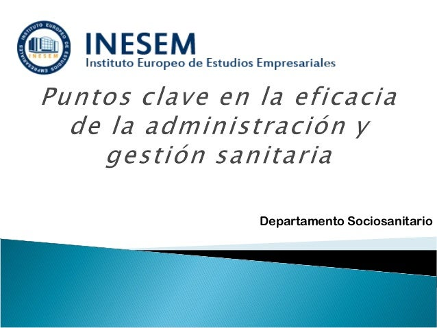 Departamento Sociosanitario