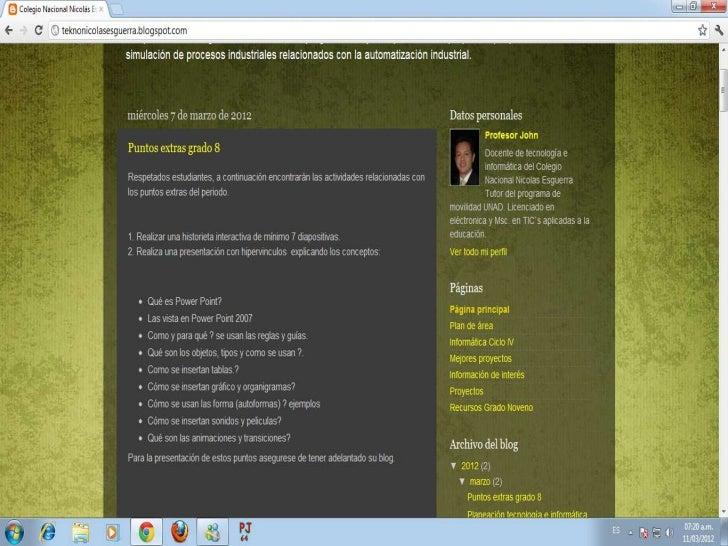 COLEGIO NACIONAL NICOLAS ESGUERRA         Edificamos FuturoOscar Mauricio Rodríguez Velásquez 32 Mauro-108@hotmail.com cur...