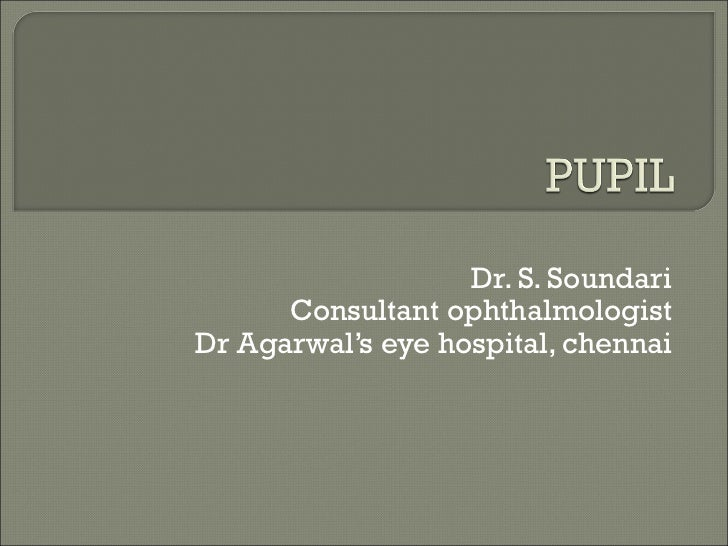 Dr. S. Soundari      Consultant ophthalmologistDr Agarwal's eye hospital, chennai