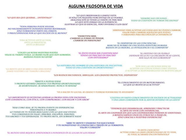 ALGUNA FILOSOFIA DE VIDA