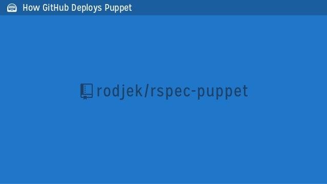 rodjek/rspec-puppet How GitHub Deploys Puppet