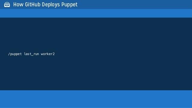 /puppet last_run worker2 How GitHub Deploys Puppet