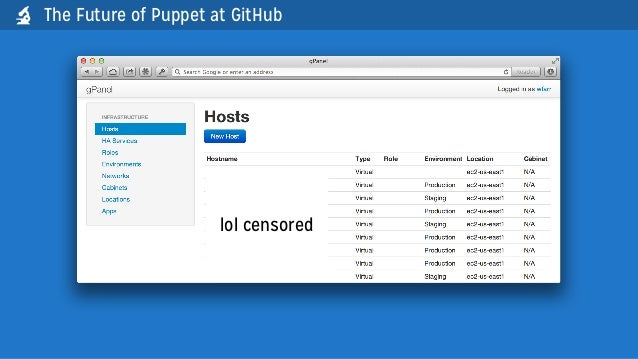 The Future of Puppet at GitHublol censored