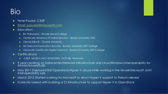Using Puppet for Deploying Hyper-V OpenStack Compute Nodes - PuppetConf 2013 Slide 2