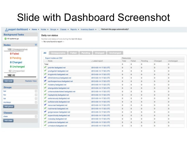 The Story of Dashboard 2.0 - PuppetConf 2013