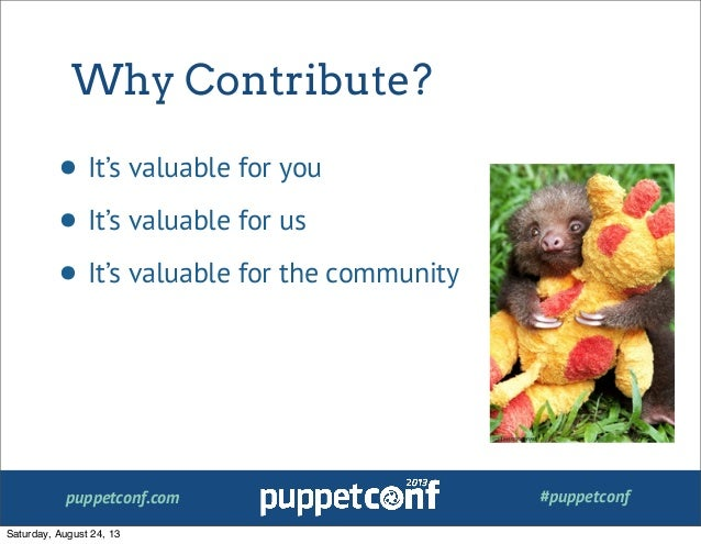 So You Want to Contribute to Puppet? A Getting Started Guide Slide 3