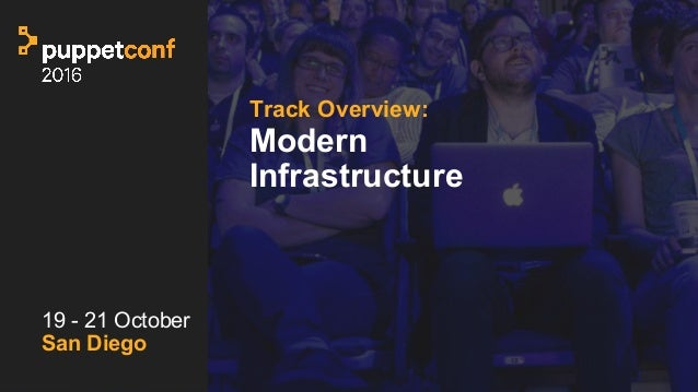 t Track Overview: Modern Infrastructure 19 - 21 October San Diego
