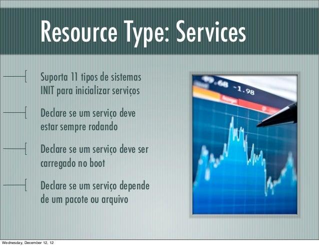 Resource Type: Services                   Suporta 11 tipos de sistemas                   INIT para inicializar serviços   ...