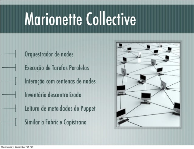 Marionette Collective                   Orquestrador de nodes                   Execução de Tarefas Paralelas             ...