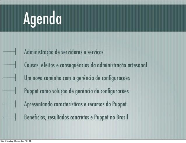Agenda                    Administração de servidores e serviços                    Causas, efeitos e consequências da adm...