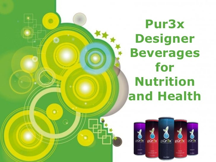 Powerpoint Templates Pur3x Designer Beverages for Nutrition and Health