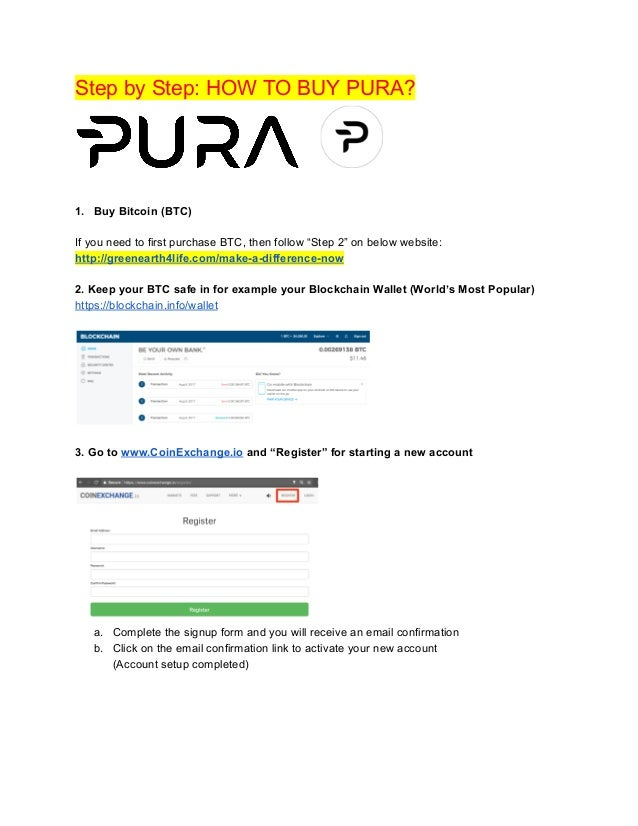 PURA: Step-by-Step For How To Purchase PURA On CoinExchange