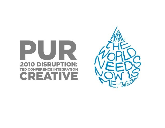 2010 DISRUPTION: PURTED CONFERENCE INTEGRATION CREATIVE