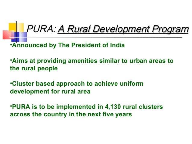 providing urban amenities in rural areas pdf