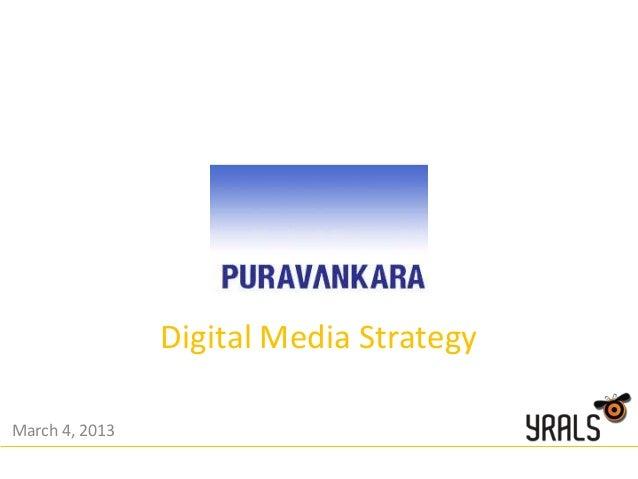 Digital Media StrategyMarch 4, 2013