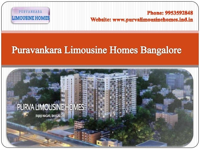 Get Purva Limousine Homes in Bangalore | Call @ +91 9953592848