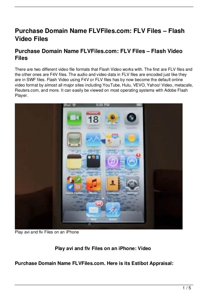 Purchase Domain Name FLVFiles.com: FLV Files – FlashVideo FilesPurchase Domain Name FLVFiles.com: FLV Files – Flash VideoF...
