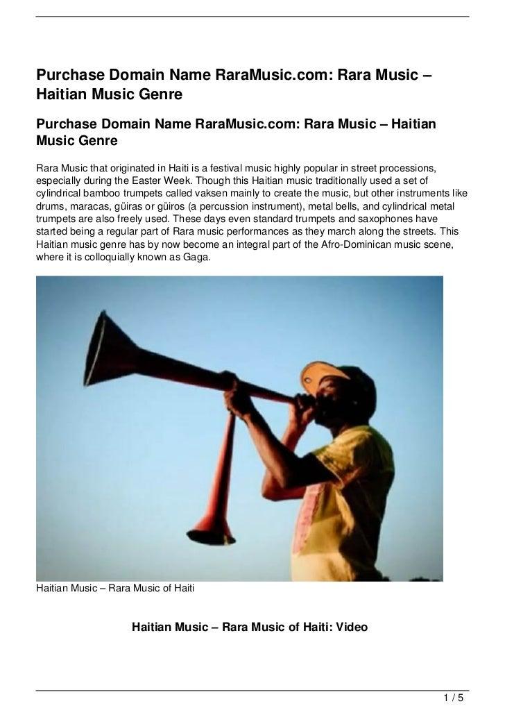 Purchase Domain Name RaraMusic.com: Rara Music –Haitian Music GenrePurchase Domain Name RaraMusic.com: Rara Music – Haitia...