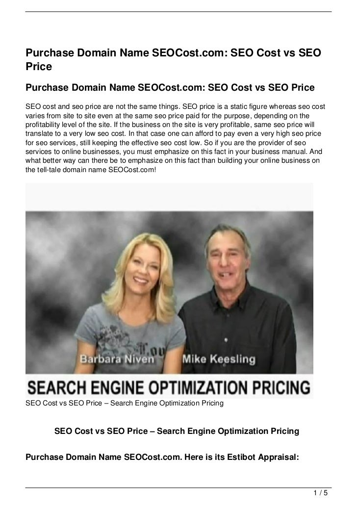 Purchase Domain Name SEOCost.com: SEO Cost vs SEOPricePurchase Domain Name SEOCost.com: SEO Cost vs SEO PriceSEO cost and ...