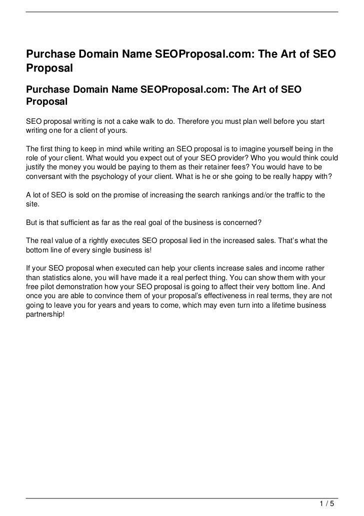 Purchase Domain Name SEOProposal.com: The Art of SEOProposalPurchase Domain Name SEOProposal.com: The Art of SEOProposalSE...