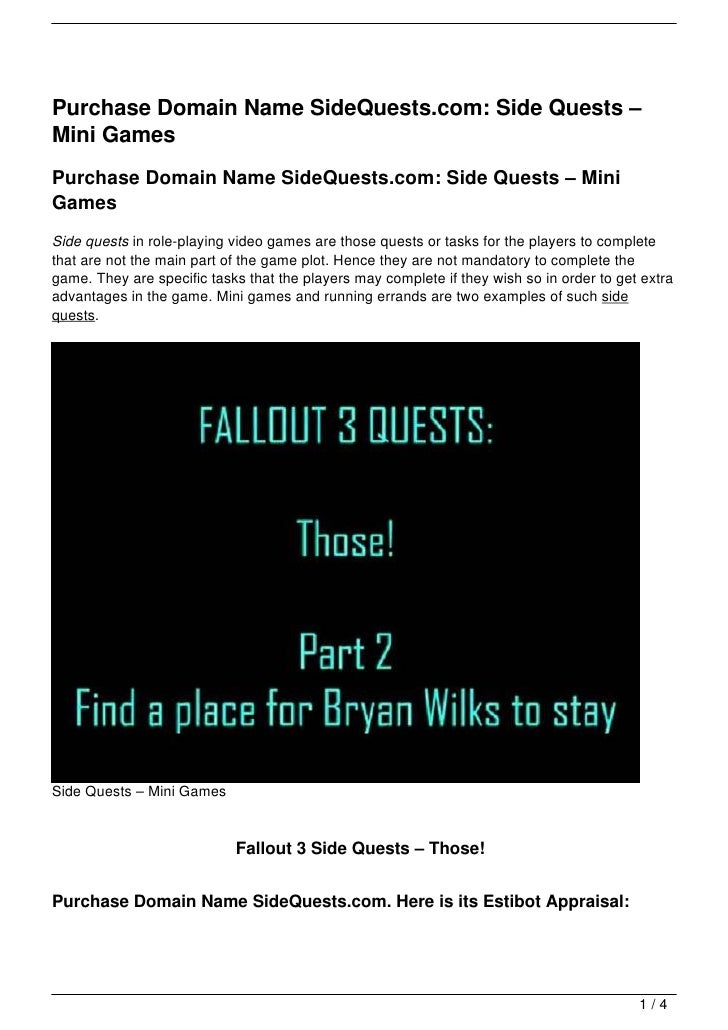 Purchase Domain Name SideQuests.com: Side Quests –Mini GamesPurchase Domain Name SideQuests.com: Side Quests – MiniGamesSi...
