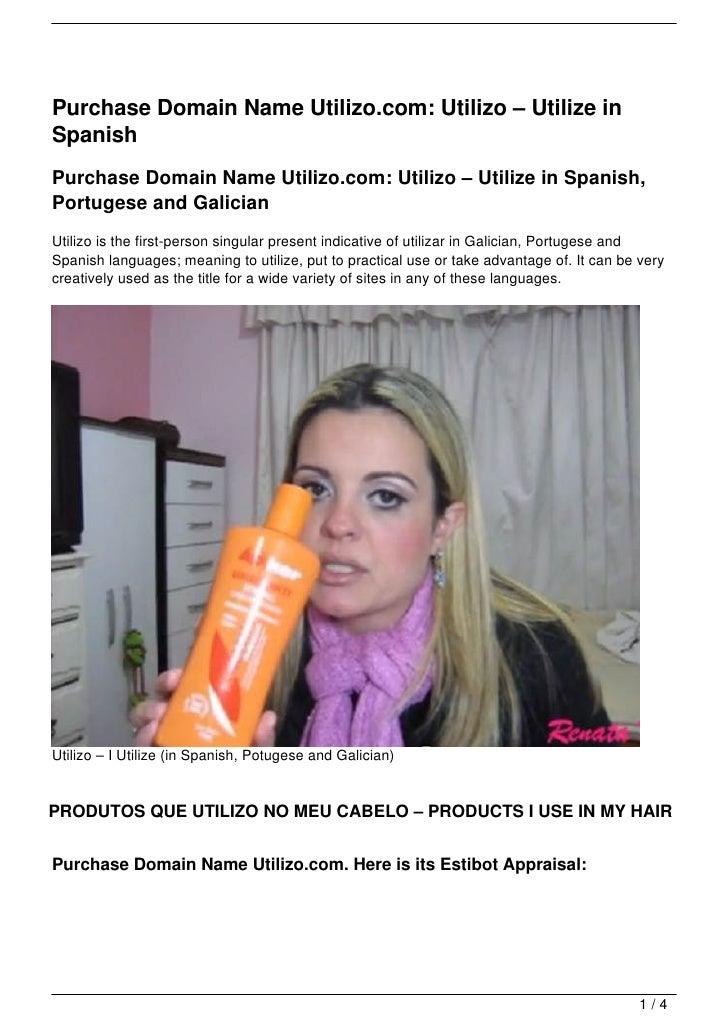 Purchase Domain Name Utilizo.com: Utilizo – Utilize inSpanishPurchase Domain Name Utilizo.com: Utilizo – Utilize in Spanis...