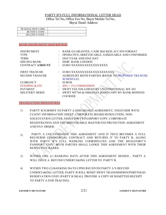 Bank Guarantee Cash Backed Icc 458 Format Bank Guarantee Cash
