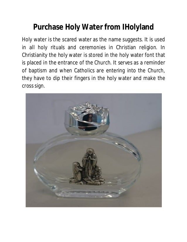 Purchase holy water from i holyland
