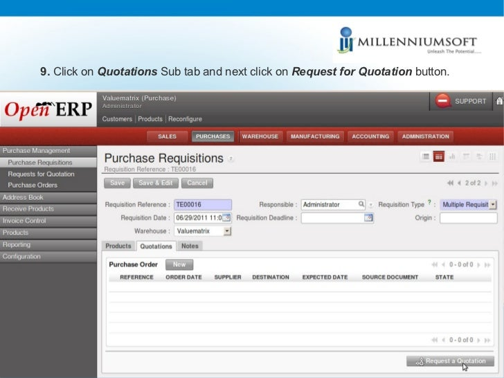 Purchase Management In Open Erp