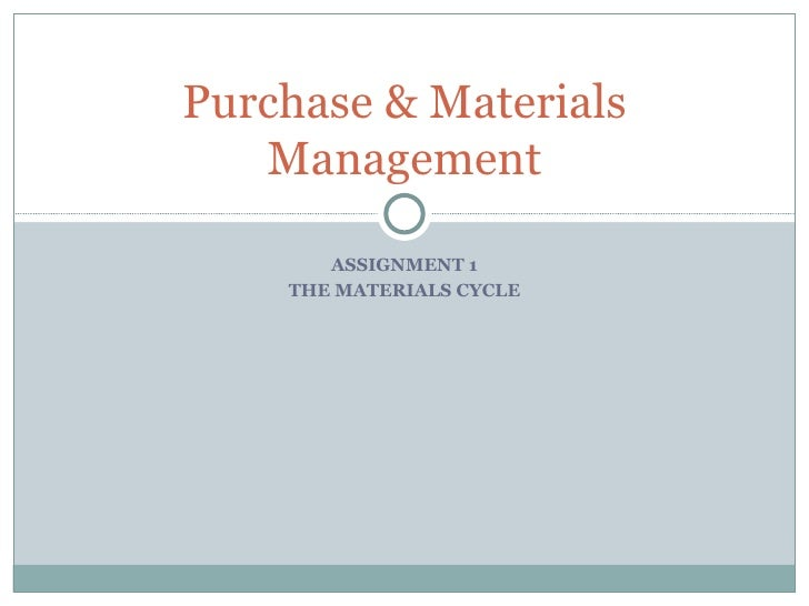 Purchase & Materials Management ppt.