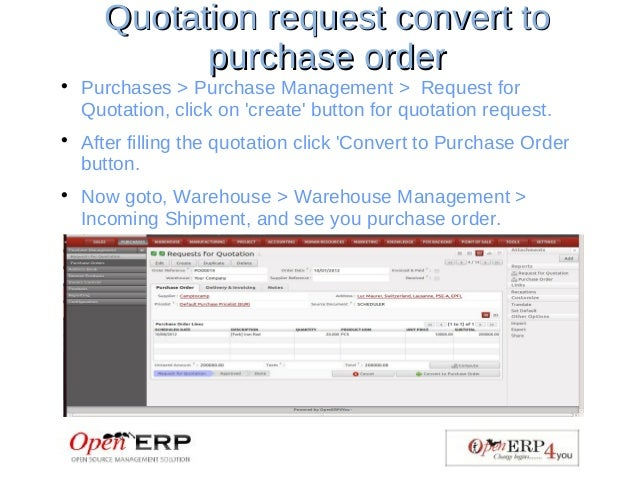 Purchase Management Through Openerp