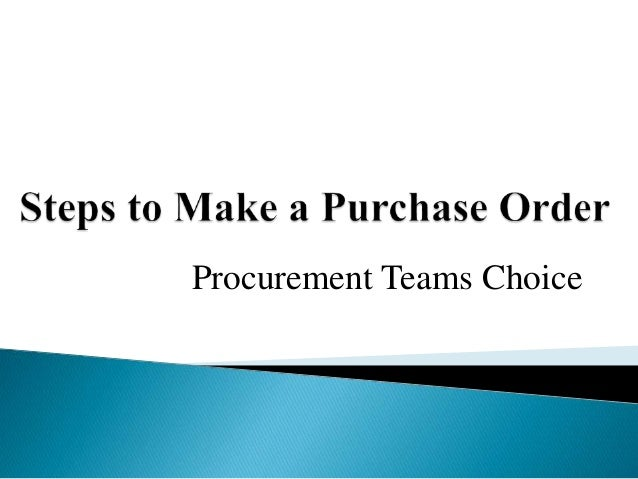 Procurement Teams Choice